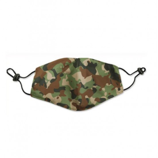 Kids washable face mask green camouflage