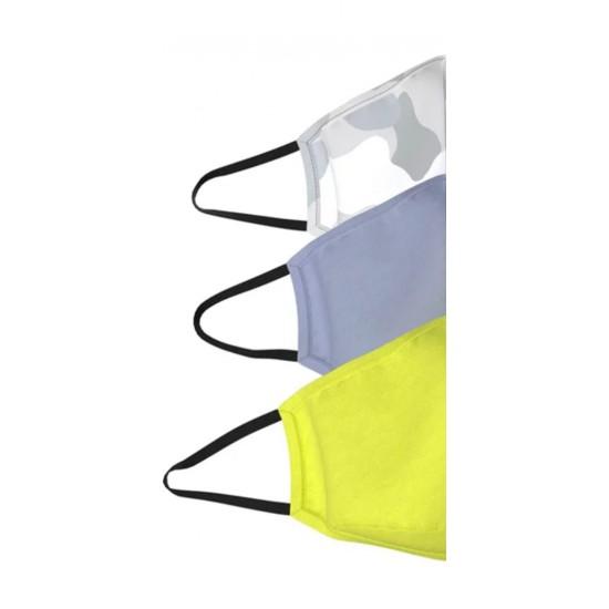 Set Plain washable light colors face mask 3ply Premium 108