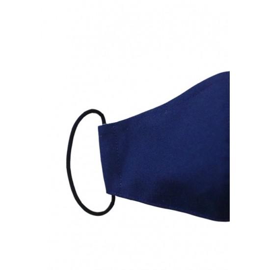Navy blue color washable face mask 3ply Premium