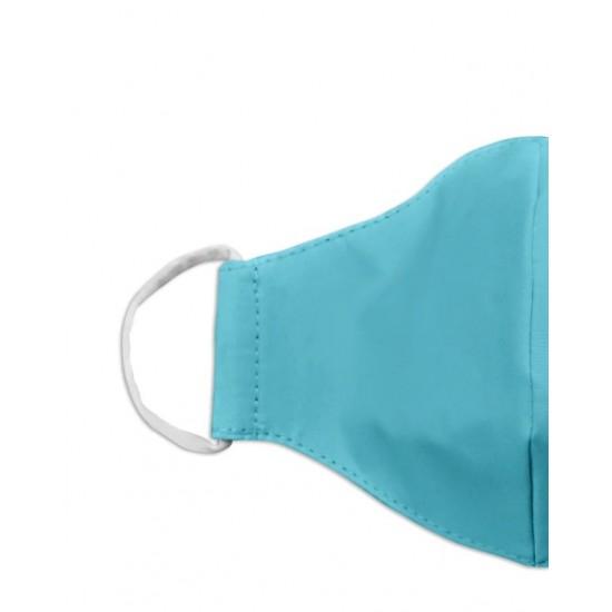 Aqua color washable face mask 3ply Premium